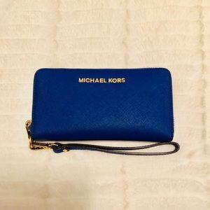 MICHAEL Michael Kors Jet Set Wallet -Electric Blue